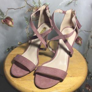✨Qupid Pink Sandals Heels~ Zipper / Tassel~ New